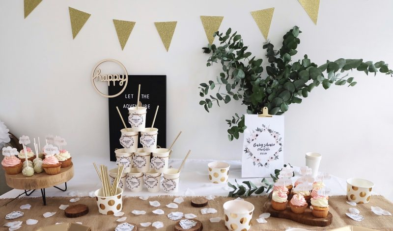 # Décoration d'une Baby Shower